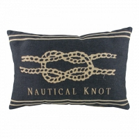 Подушка с надписью Nautical Knot Denim DG Home Pillows
