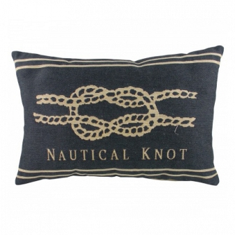 Подушка с надписью Nautical Knot Denim DG Home Pillows DG-D-PL304