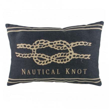 Подушка с надписью Nautical Knot Denim DG Home Pillows DG-D-PL304