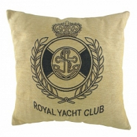 Подушка с надписью Royal Yacht Club Natural DG Home Pillows