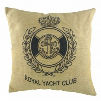 Подушка с надписью Royal Yacht Club Natural DG Home Pillows DG-D-PL305
