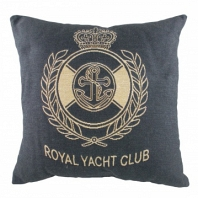 Подушка с надписью Royal Yacht Club Denim DG Home Pillows