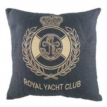 Подушка с надписью Royal Yacht Club Denim DG Home Pillows DG-D-PL306