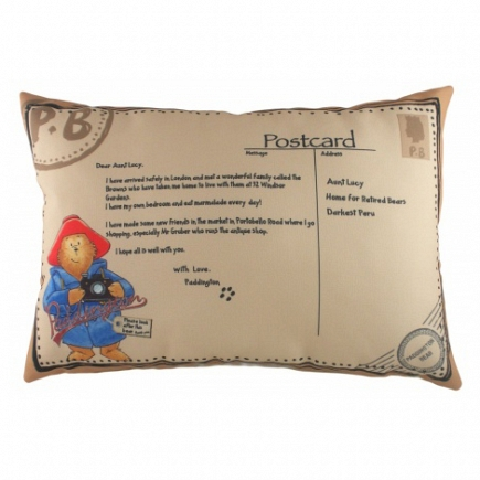 Подушка с принтом Paddington Postcard DG Home Pillows DG-D-PL307