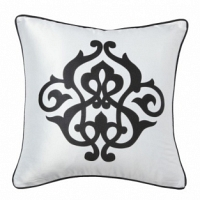 Подушка с принтом  Fleur de Lys White I DG Home Pillows
