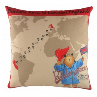 Подушка с принтом Paddington Journey DG Home Pillows DG-D-PL311