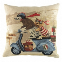 Подушка с принтом Scooter Dogs Blue DG Home Pillows
