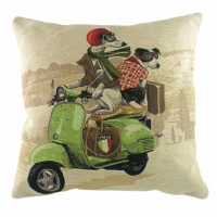 Подушка с принтом Scooter Dogs Green DG Home Pillows