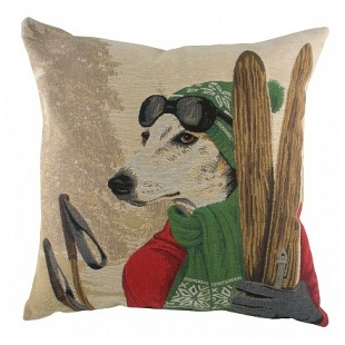 Подушка с принтом Ski Dogs Greyhound DG Home Pillows DG-D-PL316