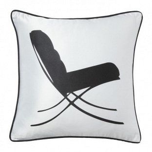 Подушка с принтом Japanese Lounge  White DG Home Pillows DG-D-PL31W