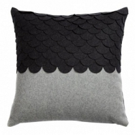 Подушка c узором Marbella Dark Gray 2 DG Home Pillows