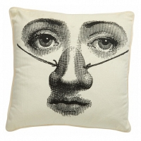 Подушка с принтом Faces Piero Fornasetti Seven DG Home Pillows