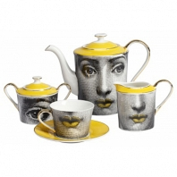 Чайный сервиз Faces Piero Fornasetti Amber DG Home Tableware