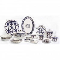 Столовый сервиз Violet Dreams на 6 персон DG Home Tableware (67 предметов)