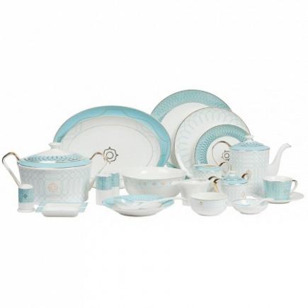 Столовый сервиз Turquoise Veil на 6 персон DG Home Tableware (67 предметов) DG-DW126-68
