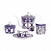 Чайный сервиз Violet Dreams на 4 персоны (11 предметов) DG Home Tableware
