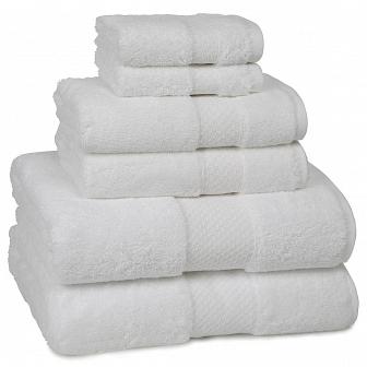 Полотенце банное Kassatex Elegance Towels White ELG-109-W