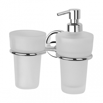Держатель для стакана и дозатора для жидкого мыла FBS Ellea ELL 008