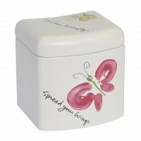 Косметическая емкость с крышкой Creative Bath Flutterby