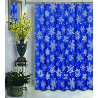 Шторка Carnation Home Fashions Shower Curtains Snow Flake