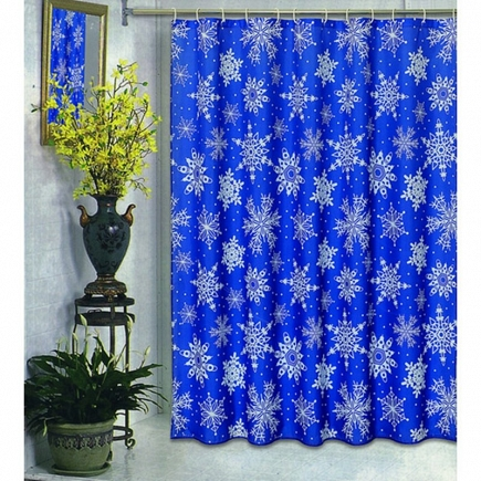 Шторка Carnation Home Fashions Shower Curtains Snow Flake FSC-SNO