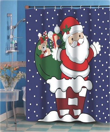 Шторка Carnation Home Fashions Christmas Up on the Rooftop FSCC-UP