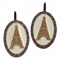 Набор из 12 крючков для шторки Creative Bath I Love Paris