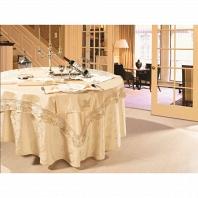 Скатерть круглая с 6 салфетками Asabella Tablecloths D-180 см