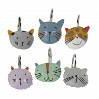 Набор из 12 крючков для шторки Creative Bath Kitty