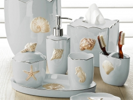 Kassatex Mare Shells Seafoam