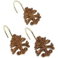 Набор из 12 крючков для шторки Carnation Home Fashions Fleur dis Lis Gold