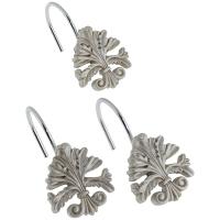 Набор из 12 крючков для шторки Carnation Home Fashions Fleur dis Lis Silver