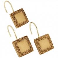 Набор из 12 крючков для шторки Carnation Home Fashions Lakewood Gold