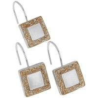 Набор из 12 крючков для шторки Carnation Home Fashions Lakewood Silver