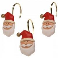 Набор из 12 крючков для шторки Carnation Home Fashions Christmas Santa Claus