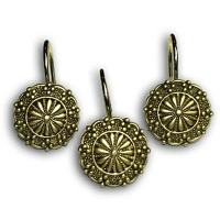 Набор из 12 крючков для шторки Carnation Home Fashions Sheffield Ant Gold