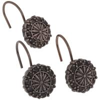 Набор из 12 крючков для шторки Carnation Home Fashions Sheffield Bronze