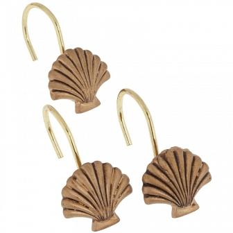 Набор из 12 крючков для шторки Carnation Home Fashions Seaside Gold PHP-SS/02