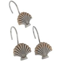 Набор из 12 крючков для шторки Carnation Home Fashions Seaside Silver