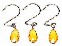 Набор из 12 крючков для шторки Carnation Home Fashions Prism Gold