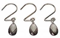 Набор из 12 крючков для шторки Carnation Home Fashions Prism Sage