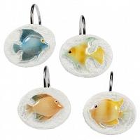 Набор из 12 крючков для шторки Creative Bath Rainbow Fish