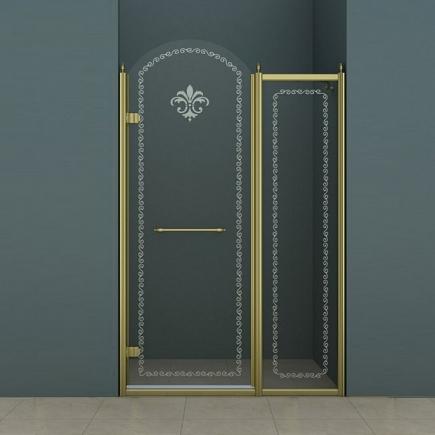 Душевая дверь Cezares Retro RETRO-B-11-100-CP-Br-L