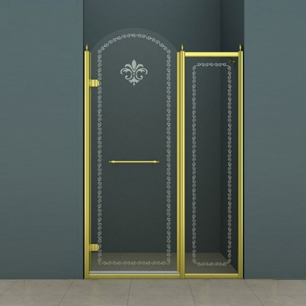 Душевая дверь Cezares Retro RETRO-B-11-100-CP-G-L