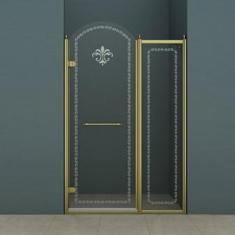 Душевая дверь Cezares Retro RETRO-B-11-120-CP-Br-L