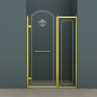Душевая дверь Cezares Retro RETRO-B-11-120-CP-G-L