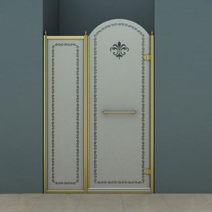 Душевая дверь Cezares Retro RETRO-B-11-120-PP-Br-R