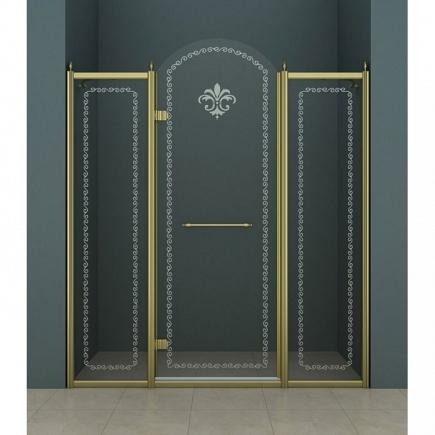Душевая дверь Cezares Retro RETRO-B-13-130-CP-Br-L