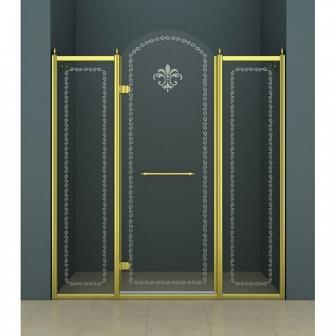 Душевая дверь Cezares Retro RETRO-B-13-130-CP-G-L