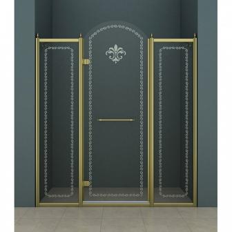 Душевая дверь Cezares Retro RETRO-B-13-150-CP-Br-L